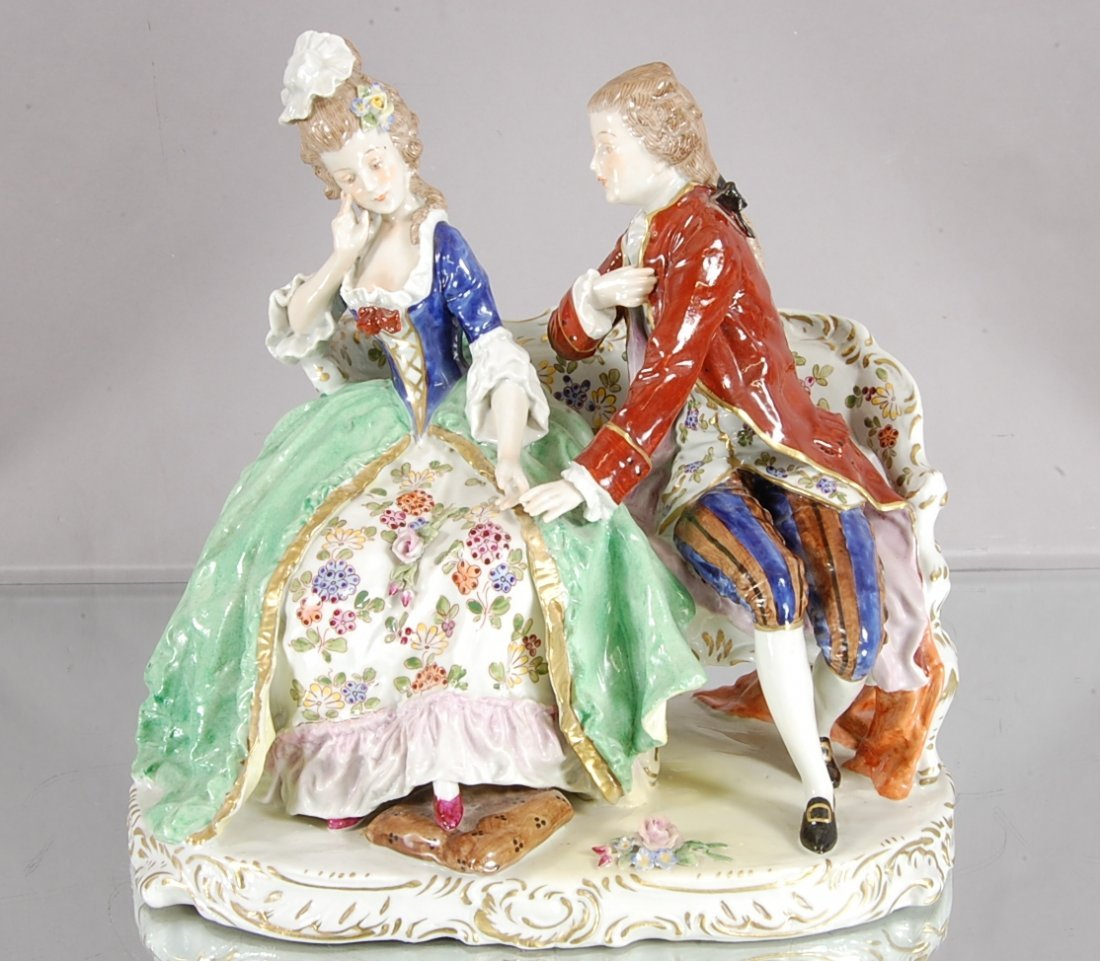4: Capodemonte Style Porcelain Statues