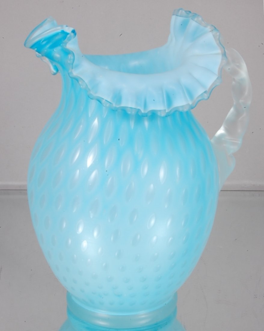 8: Victorian Blue Opalescent Water Pitcher