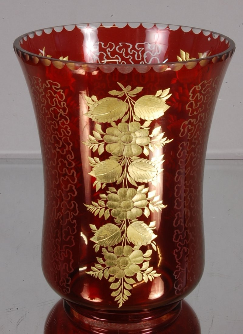 9: Ruby Cut to Clear Vase