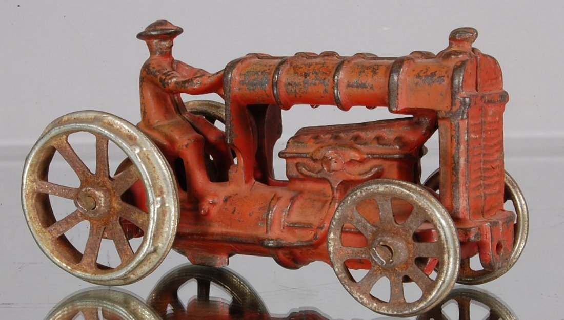 17: Cast Iron Toy Tractor