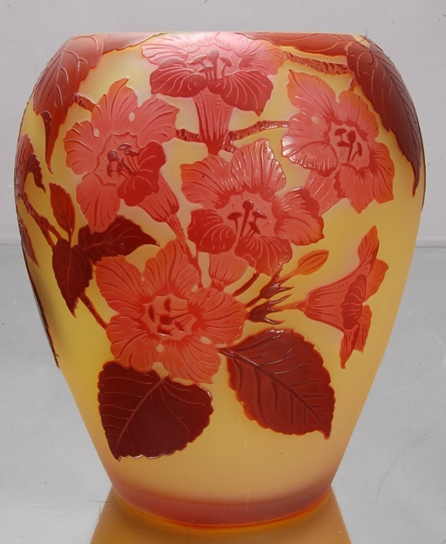 6: Emile Galle´ Cameo French Art Glass Vase