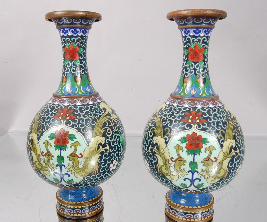 15: Cloisonné Chinese Vases