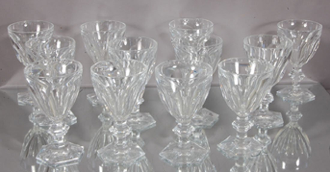 12 Baccarat Crystal Water Goblets