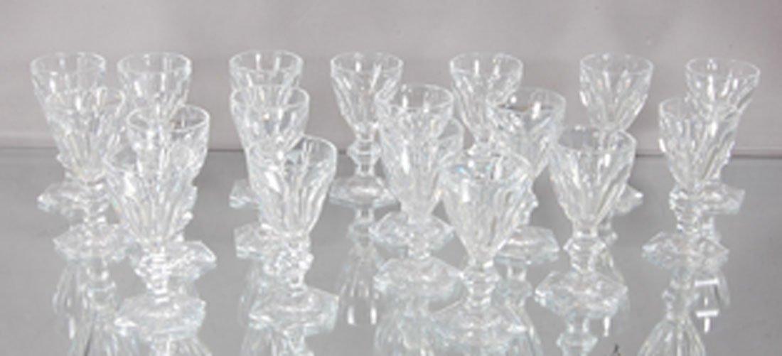 18 Baccarat Crystal Cordials