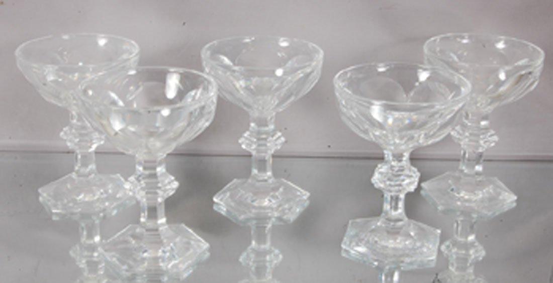 5 Baccarat Crystal Sherberts