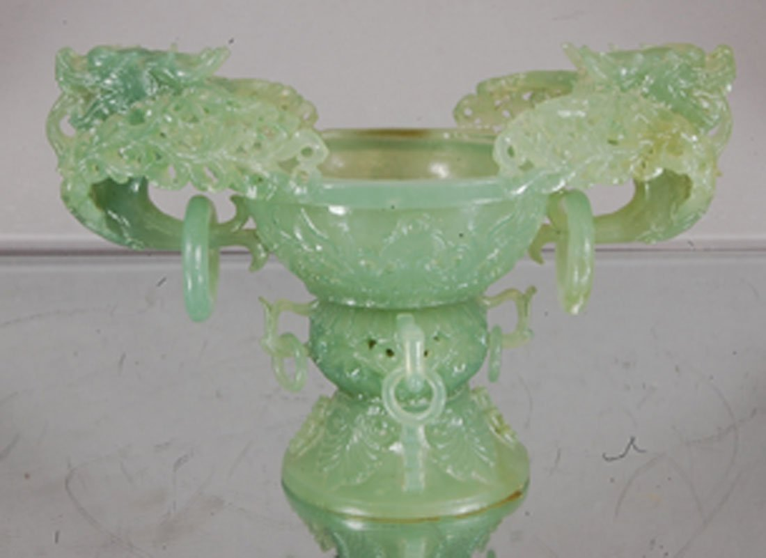 Oriental carved Jade bowl