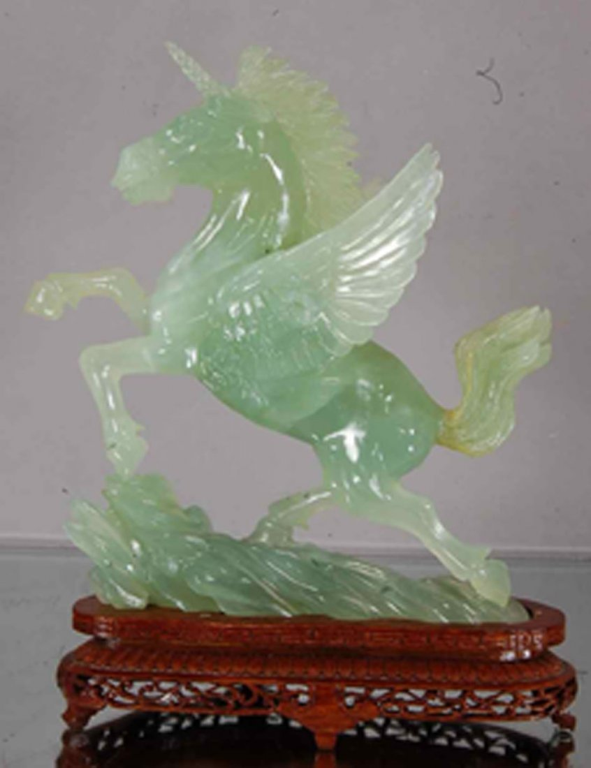 Oriental carved Jade Unicorn.