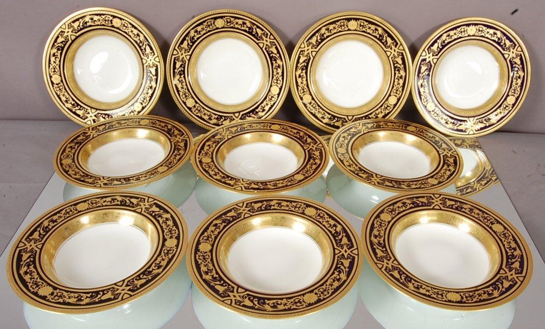 Royal Worchester Decorative Porcelain Soup Bowls