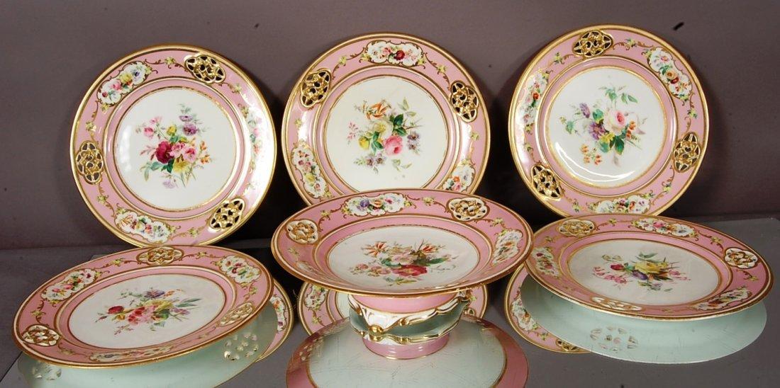 Old Paris porcelain 7 pc. hand painted
