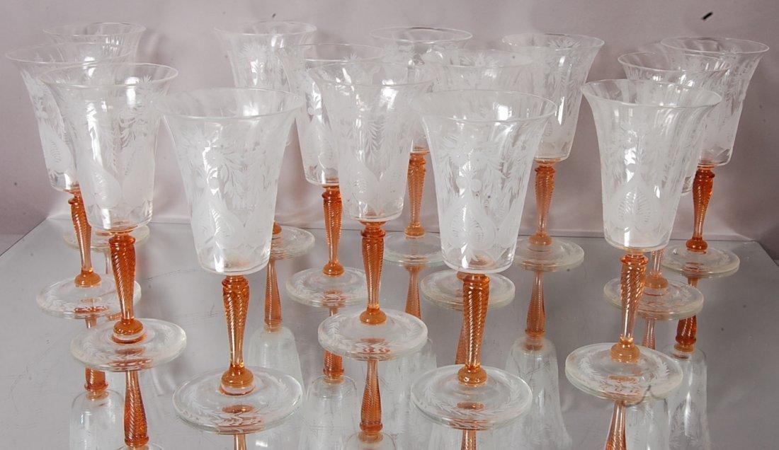 Steuben Red Wine Glasses