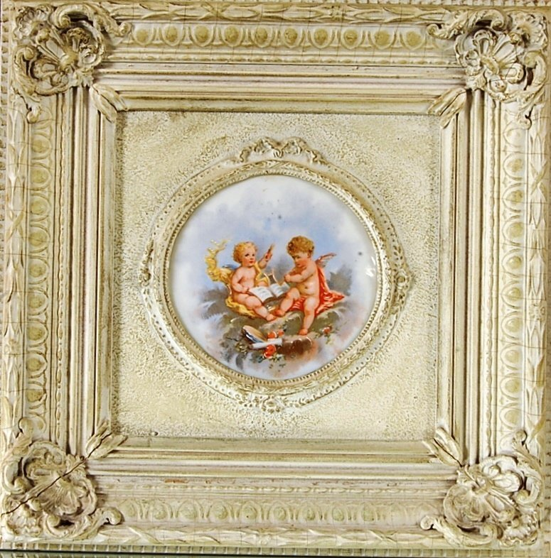 French Louis XV style Porcelain Plaque