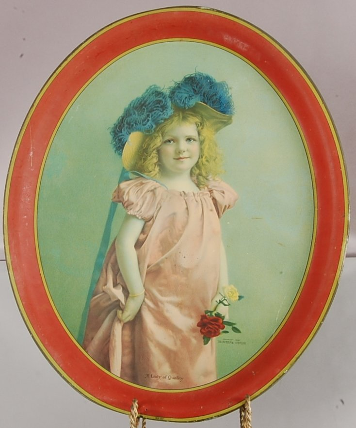 A Lady of Quality Tin oval serving tray No 47