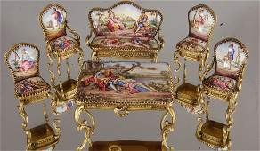 French Louis XV style Childs 6 pc Parlor set