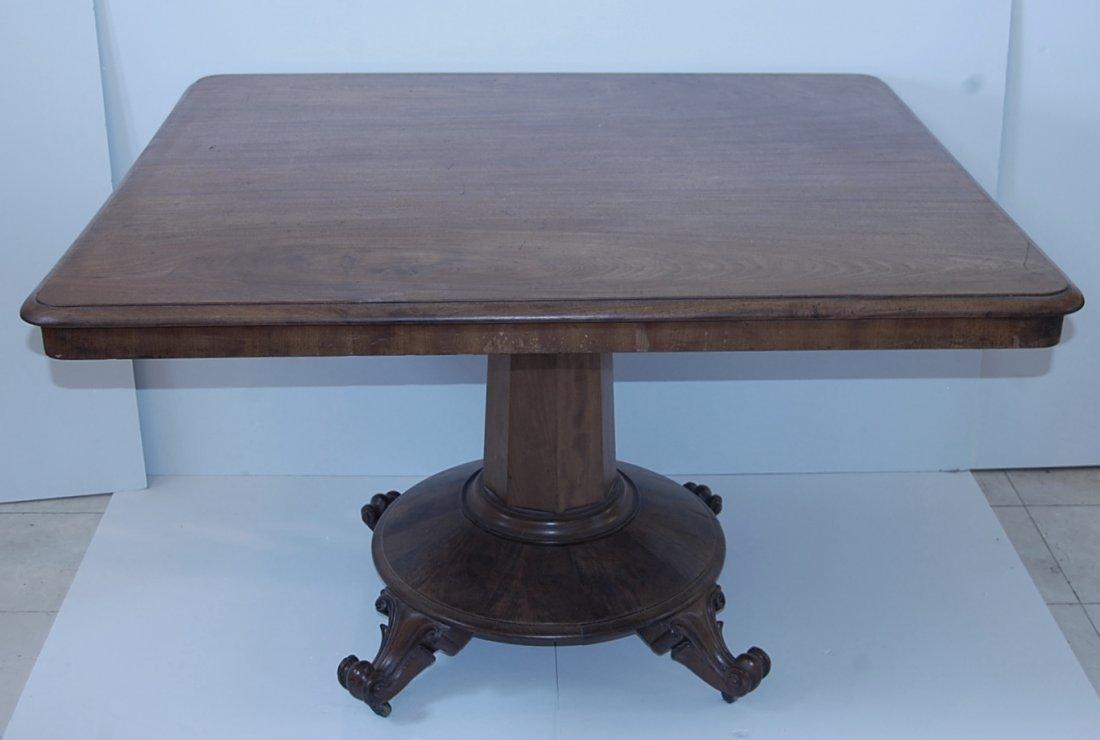 Victorian Mahogany Tilt top pedestal table