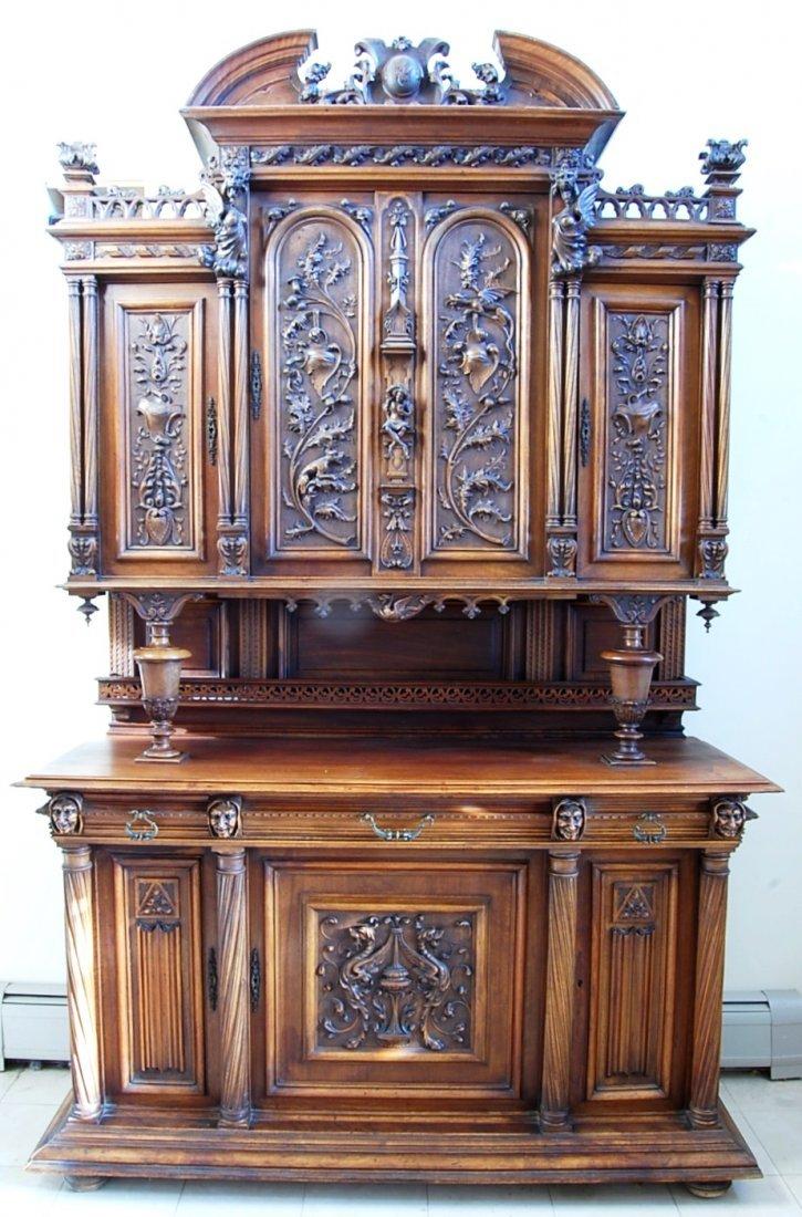 Monumental Renaissance Revival cabinet.