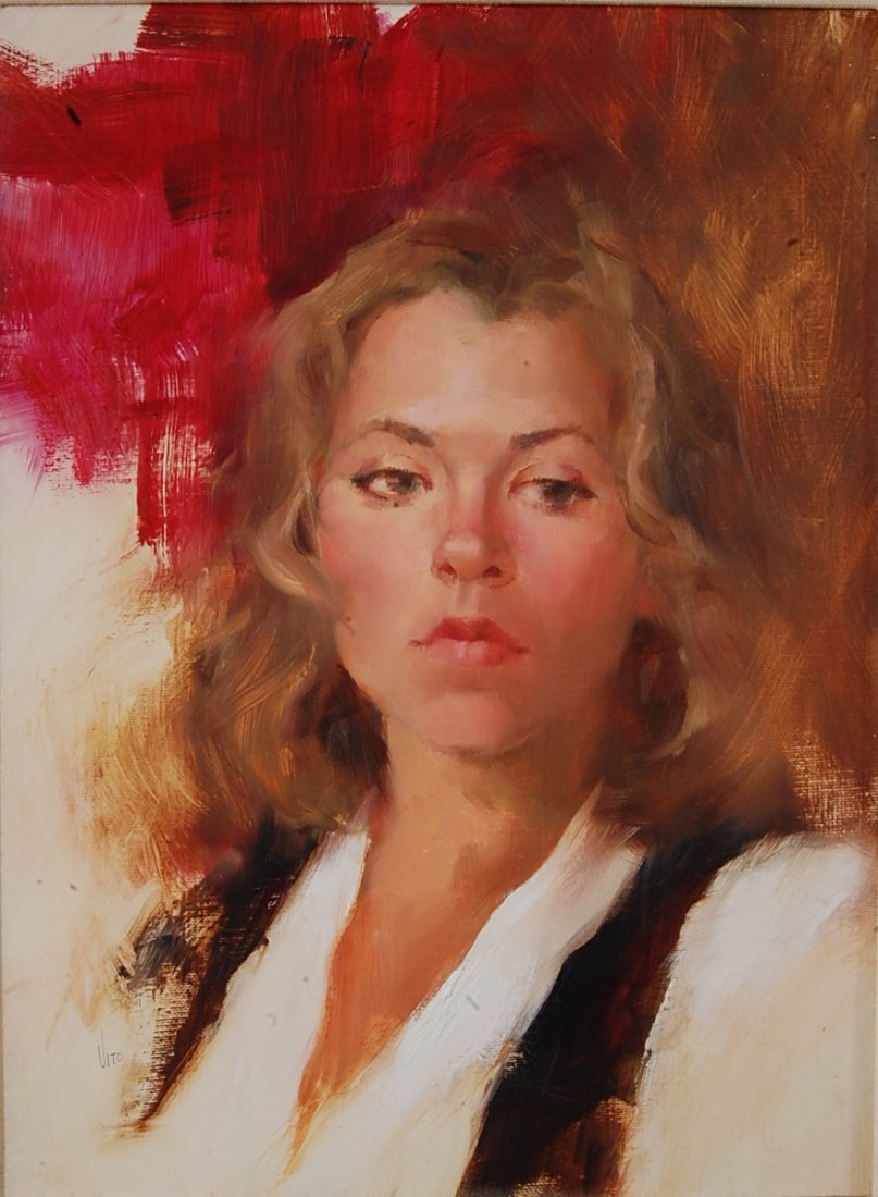 Portrait oil on canvas by Theresa Vito