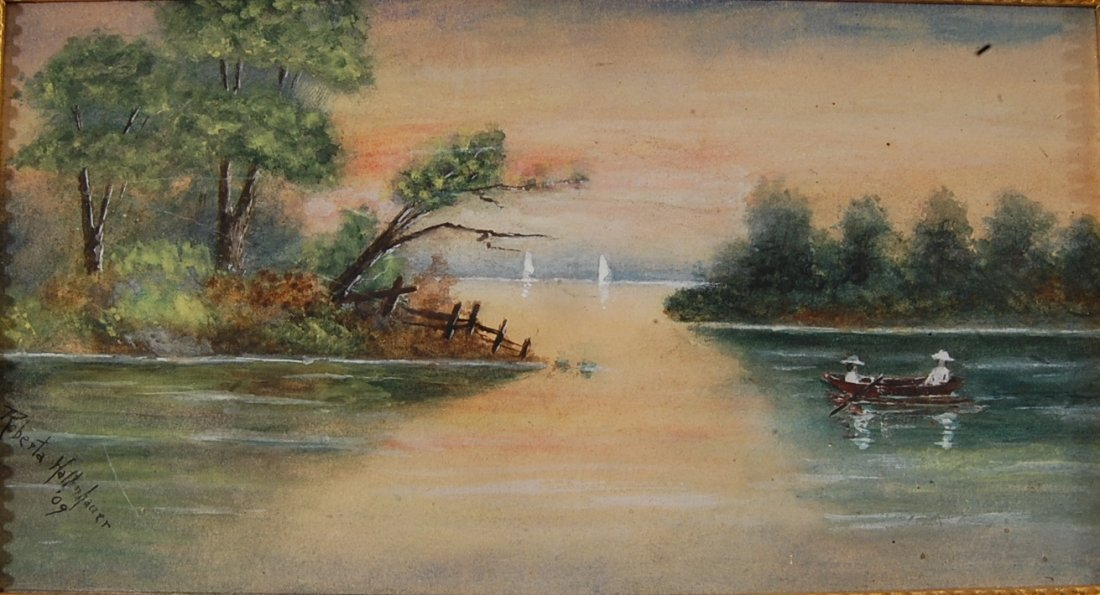 Scenic Water Color by Roberta Hallenhauer