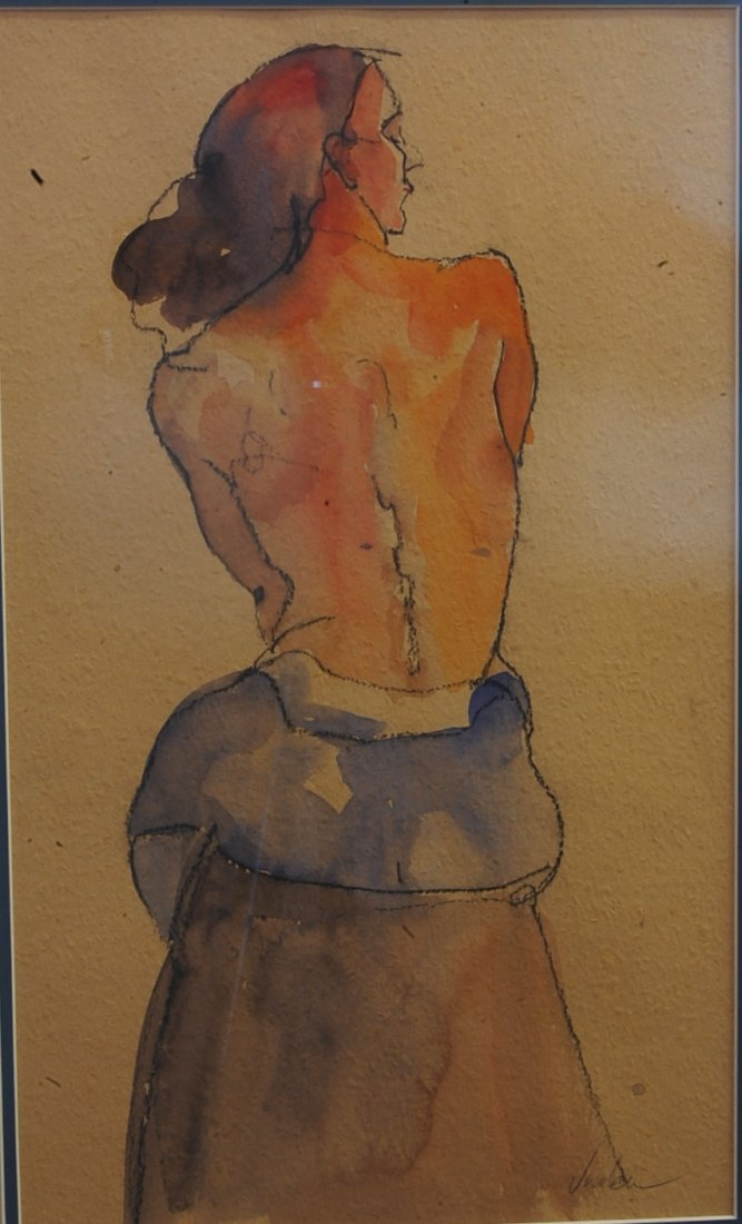 Nude Water color by Lester Jordan