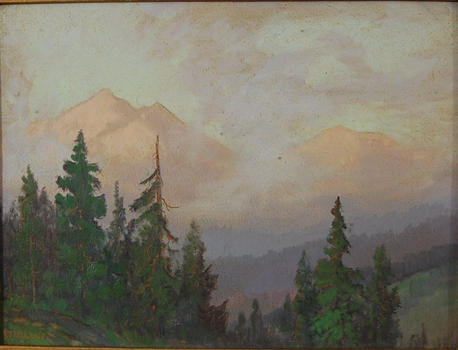Estes Park oil on board by Dave Sterling
