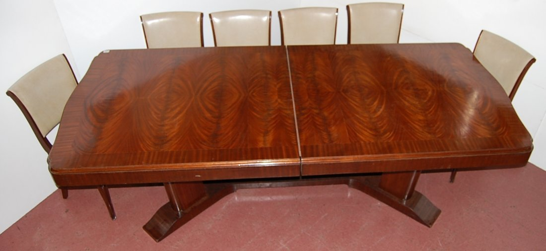 French Art deco style Mahogany dining room talbe