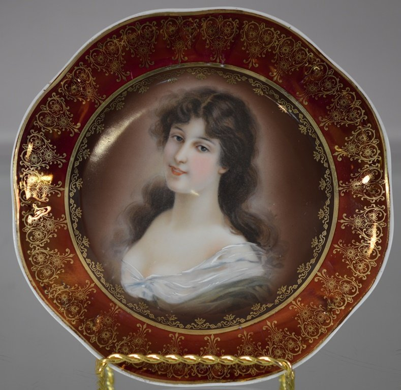 Royal Vienna Hand decorated Portrait plate of Amicitia
