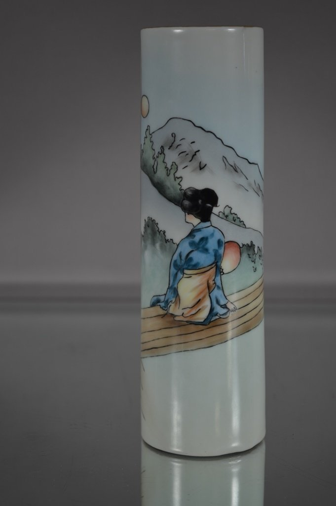 Austrian vase with oriental scene