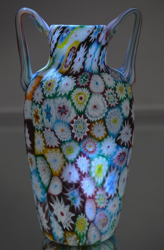 Murano Italian Art Glass 2 Handled vase.