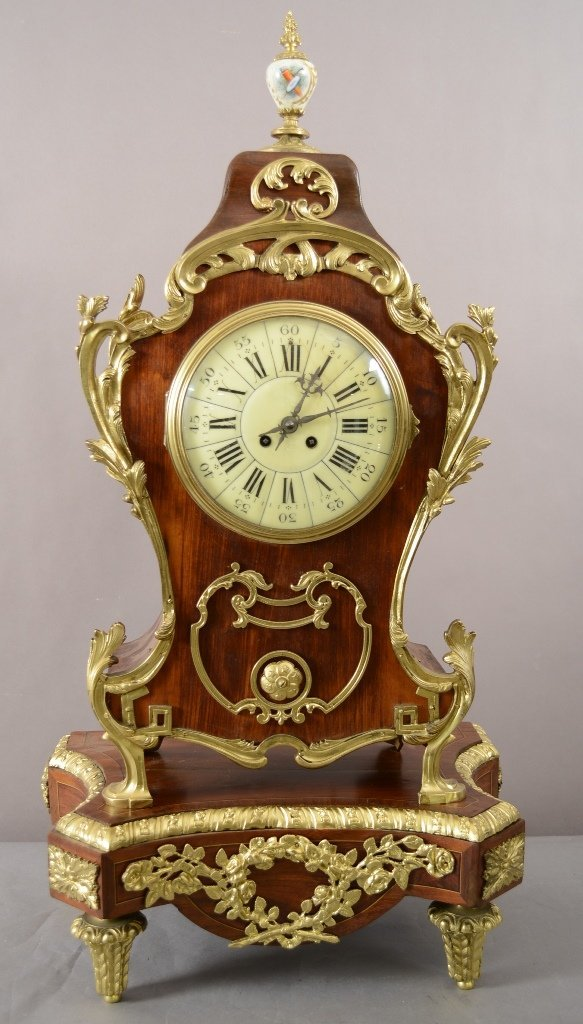 French Louis XV style Rosewood shelf Clock