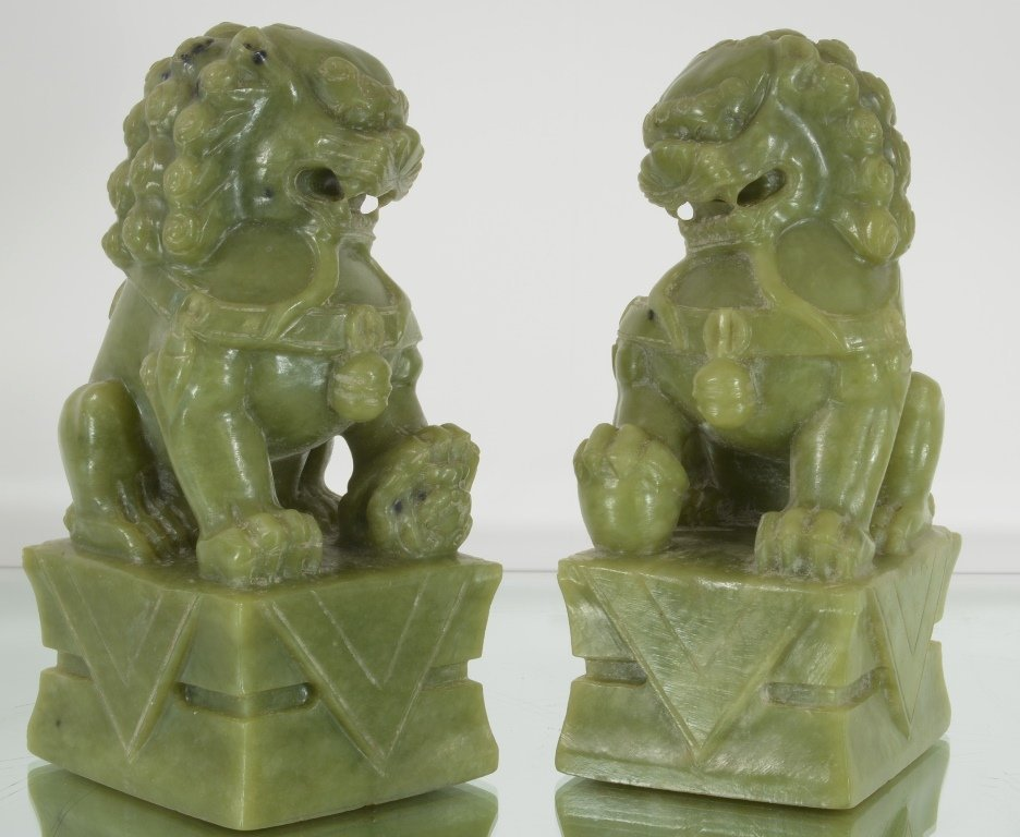 Pair of Oriental style Foo Dogs