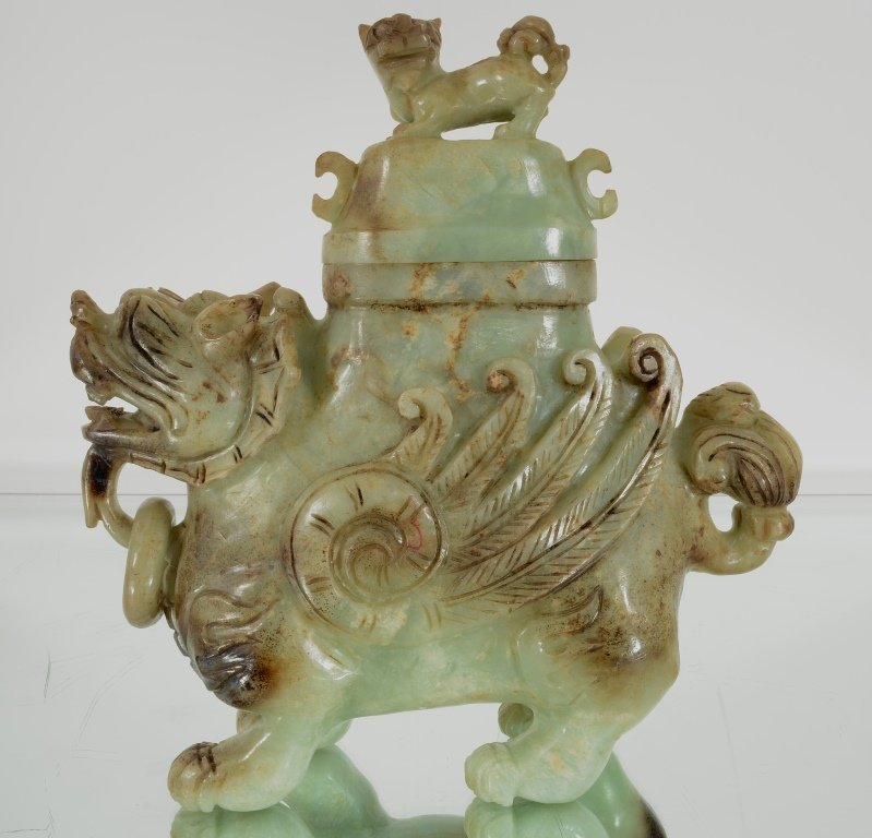 Jade censer and cover