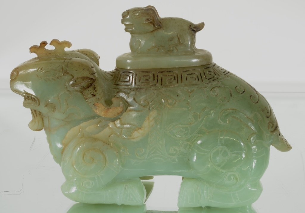 Oriental style Jade Censer and cover
