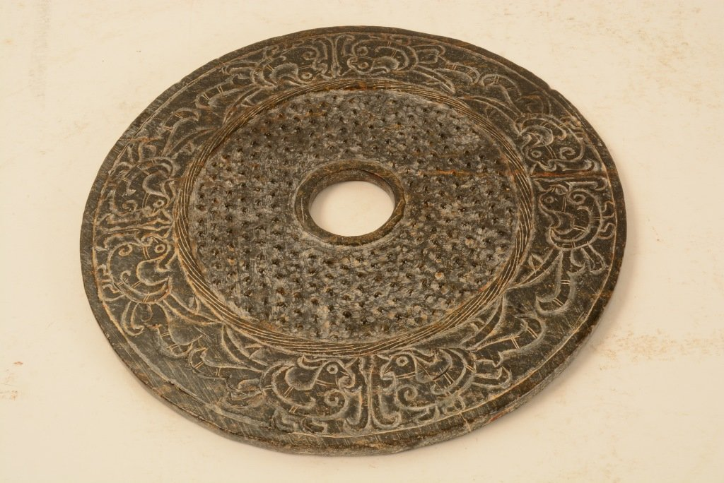 Chinese stone carved Bi-Disc