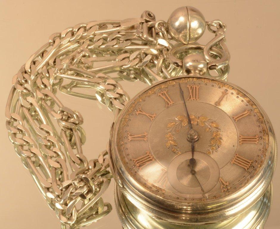 Verge Fusee Sterling case pocket watch