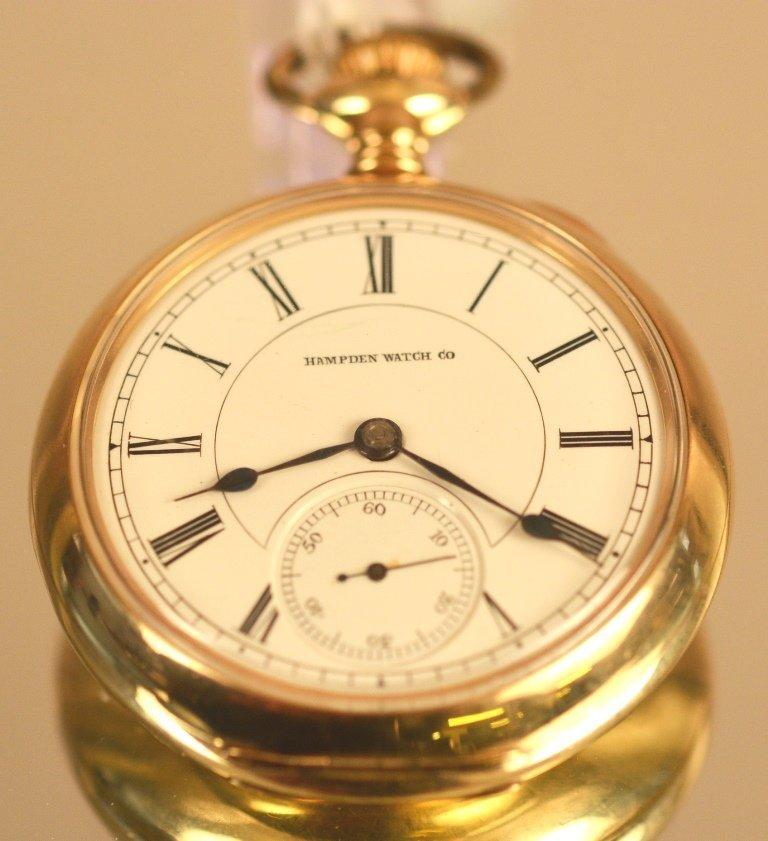 Hampton Watch Co. Open face pocket watch