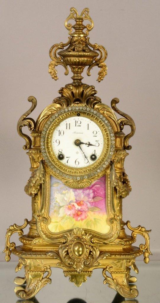Ansonia Louis XV style mantel clock