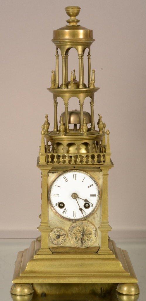 French Louis XIV Bronze shelf clock