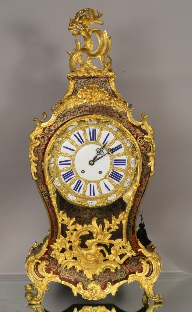 French Louis XV Boulle Cartel Clock