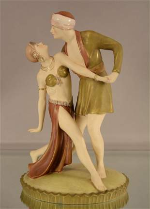 Royal Dux Statue - Art Deco Dancers