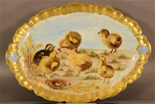 Haviland Limoges Hand Painted Serving Tray