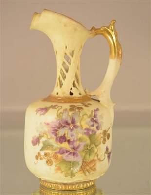 Teplitz Porcelain Hand Painted Vase
