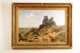 Mexico Valley Landscape by Jos� M. Velasco 1894