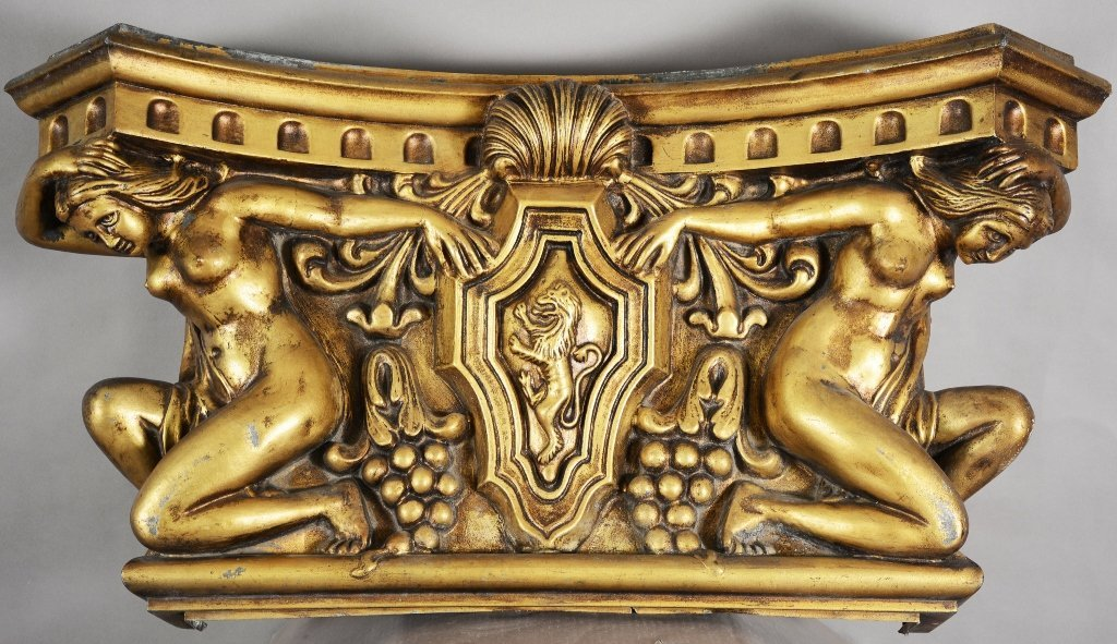 French Art Nouveau Style Gilted Frieze