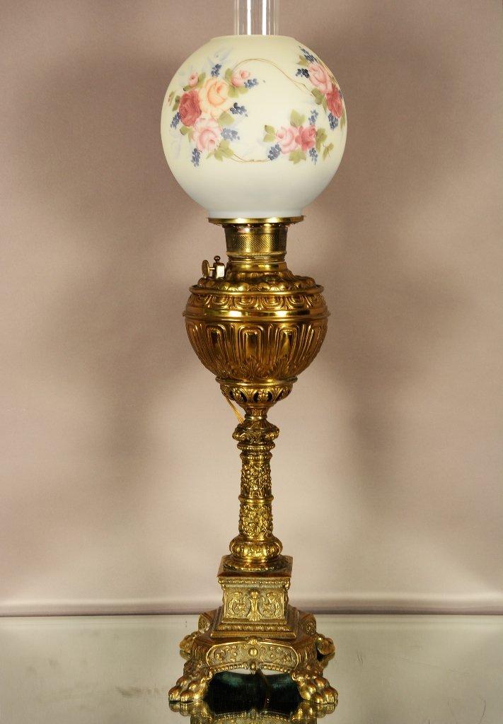 American Brass Victorian Banquet Lamp