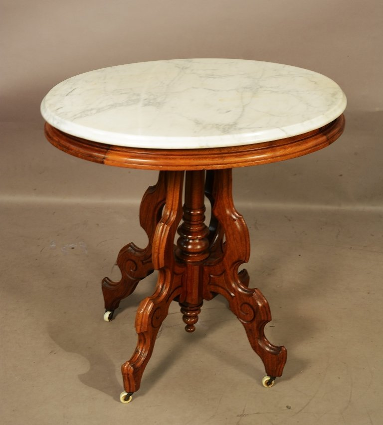 American Victorian Style Parlor Table