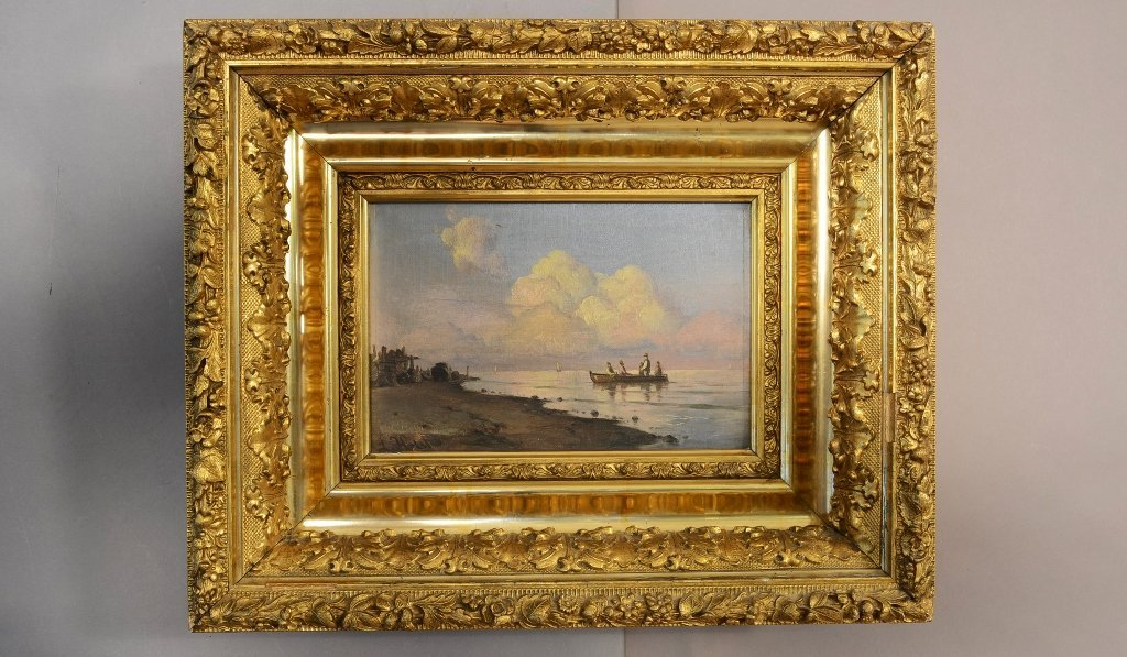 Sea Scape Oil on Canvas Artist Signed