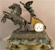French Louis XV Style Figural Mantel Clock