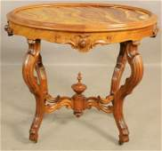 American Victorian Walnut Parlor Table