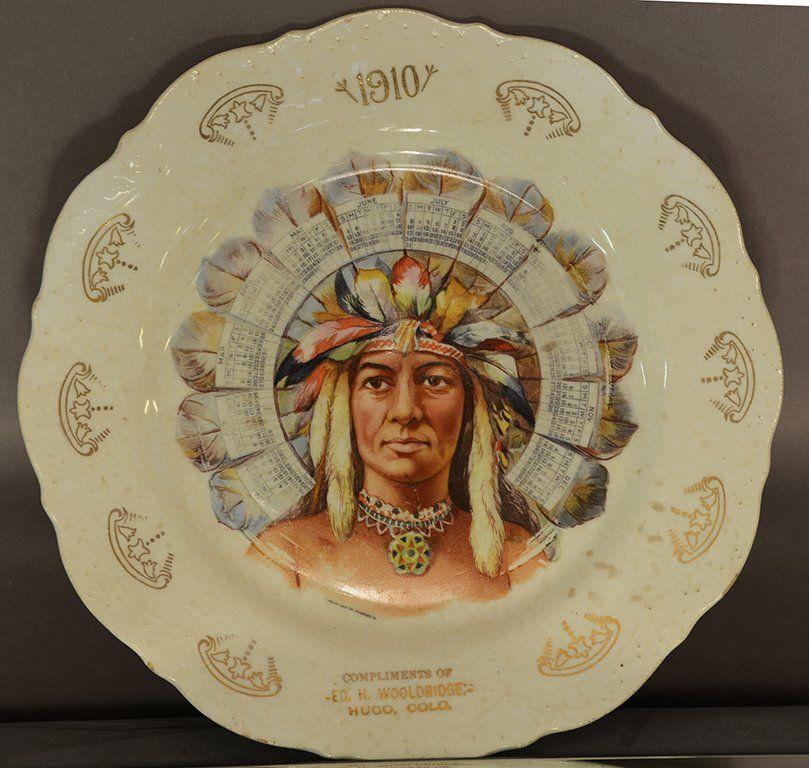 """""""1910"""" calendar plate, Hugo, Colorado"""