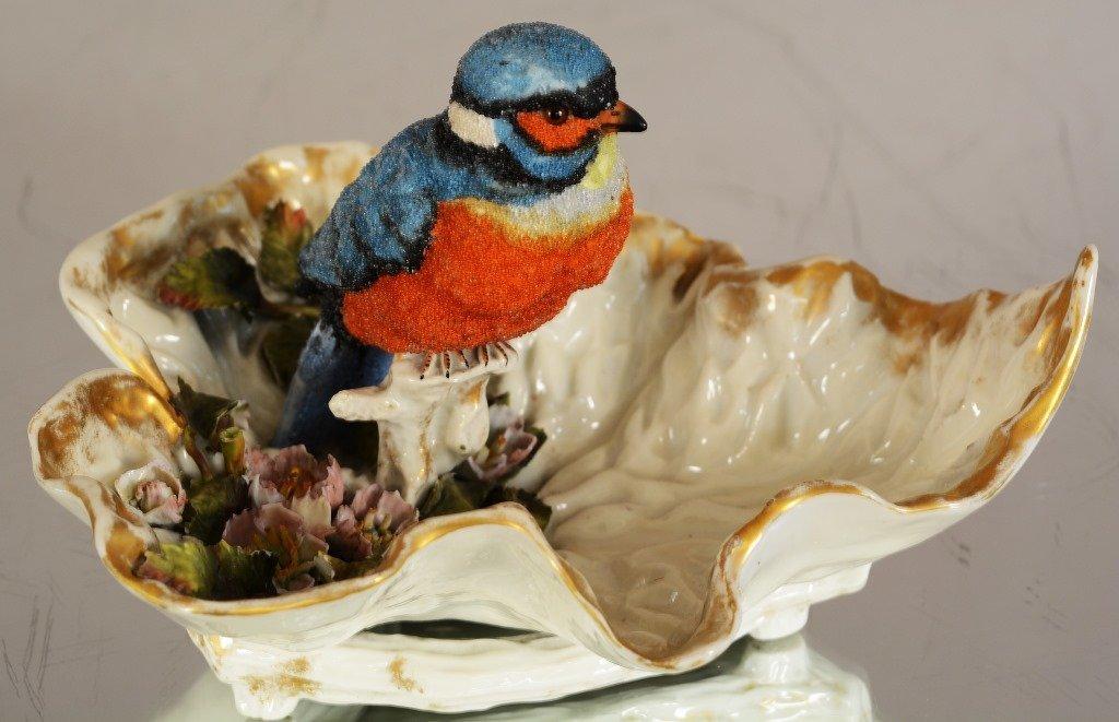 English porcelain blue bird.