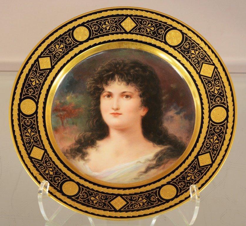 "Royal Vienna 9½""portrait plate"
